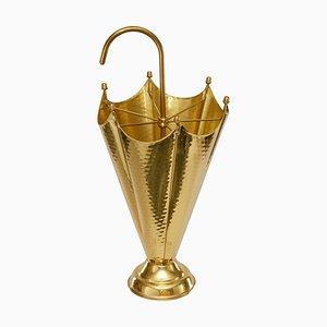 Mid-Century Golden Brass Umbrella Stand, 1960s