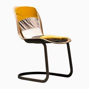 Velvet Chairs by Gastone Rinaldi for Rima, 1970s, Set of 4