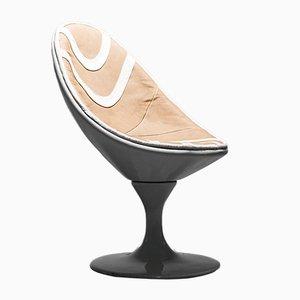 Ovale Sessel, 1970er, 2er Set