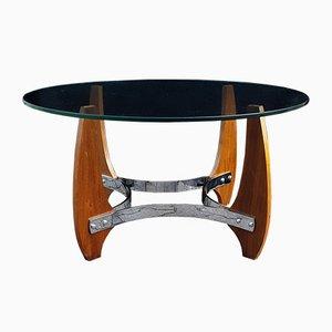 Round Vintage SoFath Coffee Table, 1970s