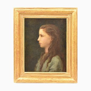 Peinture Antique, Portrait, Fin du 19ème Siècle.