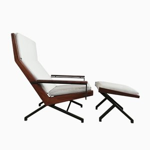 Lotus Lounge Chair with Ottoman by Rob Parry for Gelderland, 1950s, Set of 2