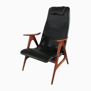 High Back Armlehnstuhl von Louis Van Teeffelen für Wébé, 1950er