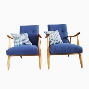 Easy Chairs by Louis Van Teeffelen for Wébé, Set of 2