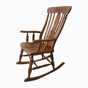 Mid-Century Wooden Rocking Chair