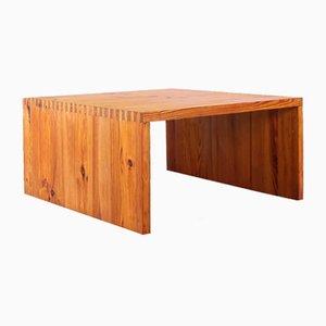 Square Pine Wood Coffee Table by Ate Van Apeldoorn for Houtwerk Hattem, 1960s