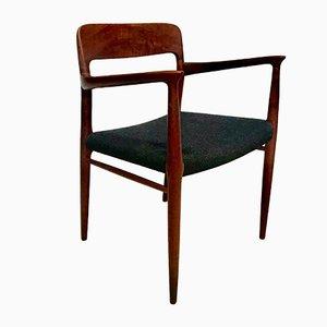 Model 56 Danish Teak Chair with Armrests by Niels O. Møller for J.L. Møllers, 1954