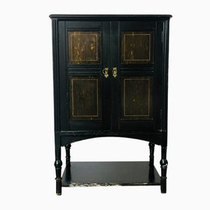 Victorian Ebonised Music Cabinet with 5 Internal Drawers