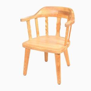 Mid-Century Sessel aus massivem Pinienholz, 1960er, 4er Set