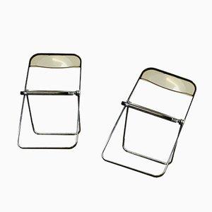 Plia Folding Chairs by Giancarlo Piretti for Anonima Castelli, 1967, Set of 2