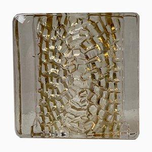 Brutalist Glass Block Sculpture from Kosta Boda, 1970s