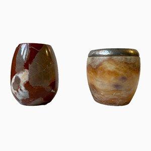 Vintage Italian Marble Vases, Set of 2