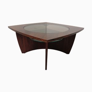 Danish Rosewood & Glass Side Table, 1960s