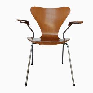 Series 7 3270 Teak Armlehnstuhl von Arne Jacobsen für Fritz Hansen, 1964