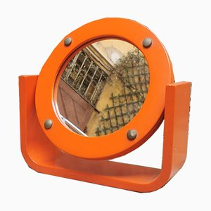 Orange Table Mirror, 1960s
