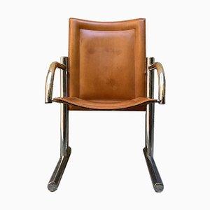 Stahl und Leder Stuhl