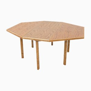 Mid-Century Six-Sideline Extendable Dining Table