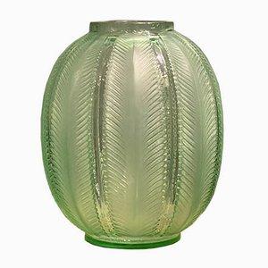 Grüne Biskra Vase von R.Lalique