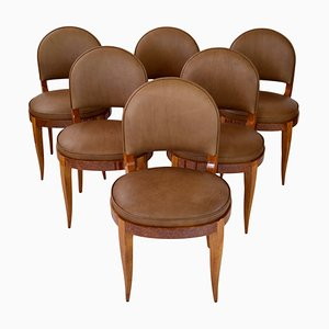 Art Déco Stühle, Frankreich, 1930er, 6er Set