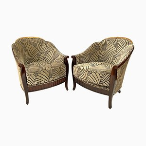 Art Déco Lounge Chairs, France, 1930s, Set of 2