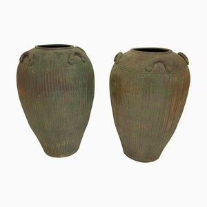 Terracotta Amphoras, France, 1940s, Set of 2
