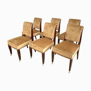Art Déco Chairs, France, 1930s, Set of 6