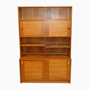 Teak Wall Shelf Cabinet from Domino Mobler, 1960s
