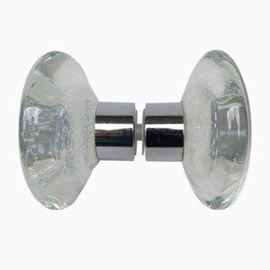 Murano Glass and Chrome Push Handle, 1970s