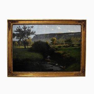 Großes signiertes Gemälde von Chabod, 1886