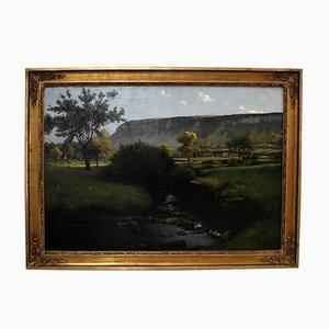 Large Signed Painting by Chabod, 1886