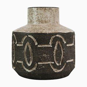 Ceramic Vase with Dark Nuances from Loevemose Ceramics, 1960s