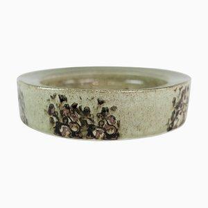 Runder Keramik Teller in Grün von Carl-Harry Stålhane für Rørstrand