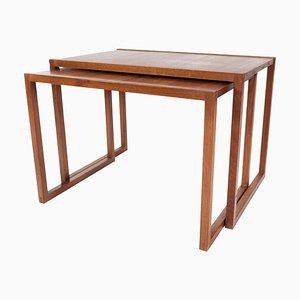 Danish Teak Nesting Tables, 1960s, Set of 2