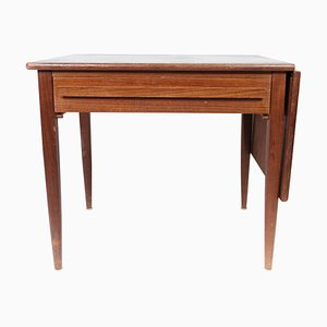 Danish Teak Side Table with Extensions from Silkeborg, 1960s