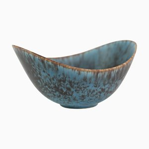 Ceramic Bowl with Blue and Brown Glaze by Gunnar Nylund for Rørstrand