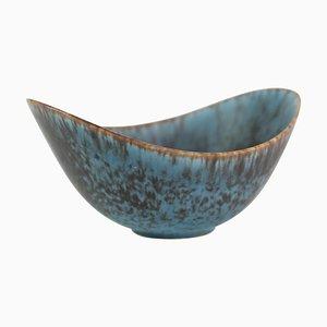 Keramikschale mit Blau-Brauner Glasur von Gunnar Nylund für Rørstrand