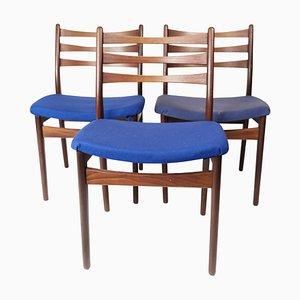 Danish Teak Dining Room Chairs, 1960s, Set of 3