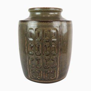 No. 231 Stoneware Vase with Dark Glaze by Bing and Groendahl