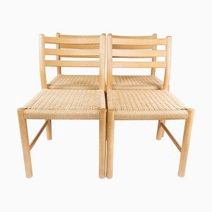 Set of Four Kurt Østervig Oak Dining Chairs for k.p. Furniture, 1960s.