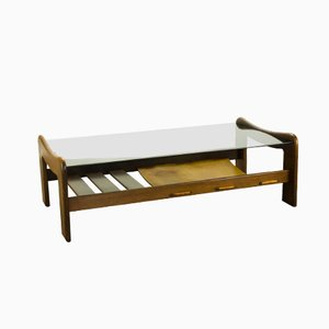 Wenge and Glass Coffee Table from Percival Lafer