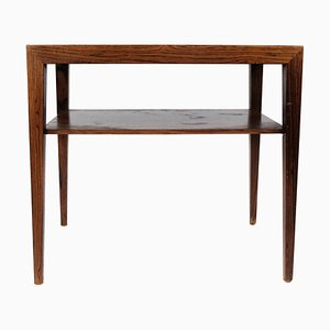 Rosewood Side Table by Severin Hansen for Haslev, 1960s