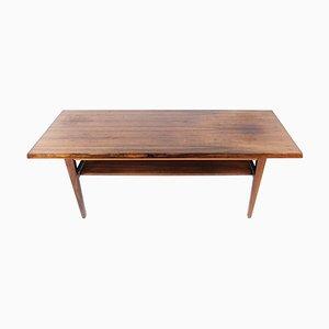 Danish Rosewood Coffee Table with Shelf, 1960s
