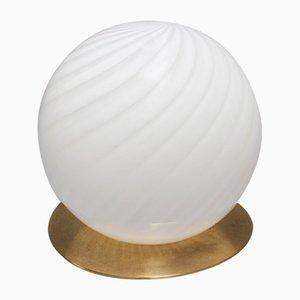 Vintage Italian Murano Glass Globe Table Lamp, 1970s