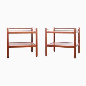 Mid-Century Teak Side Tables, Set of 2
