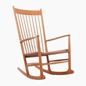 Mid-Century Scandinavian Model J16 Rocking Chair by Hans Wegner for FDB