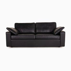 Conseta Black Leather Sofa from Cor