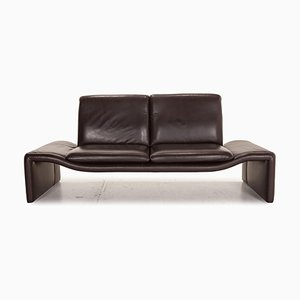 Fellini Brown Leather Sofa from Koinor