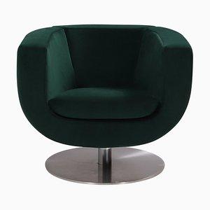 Green Velvet Tulip Armchair by Jeffrey Bernett for B&B Italia