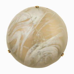 Blown Murano Glass Flush Mount from Hille, 1960s