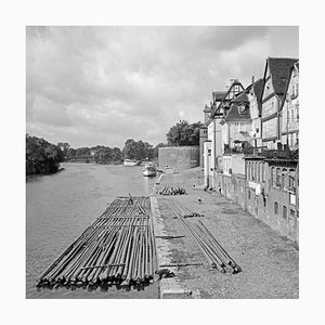 River in the Old City of Kassel, Germany, 1937, Printed 2021
